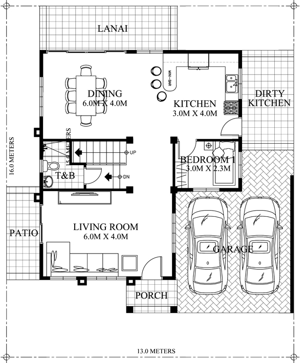 2 Story Traditional Home Plan