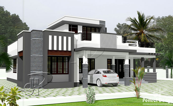 2 Storey Modern House Design With Roof Deck