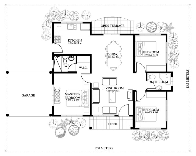 The Blue House Design With 3 Bedrooms Pinoy House Plans