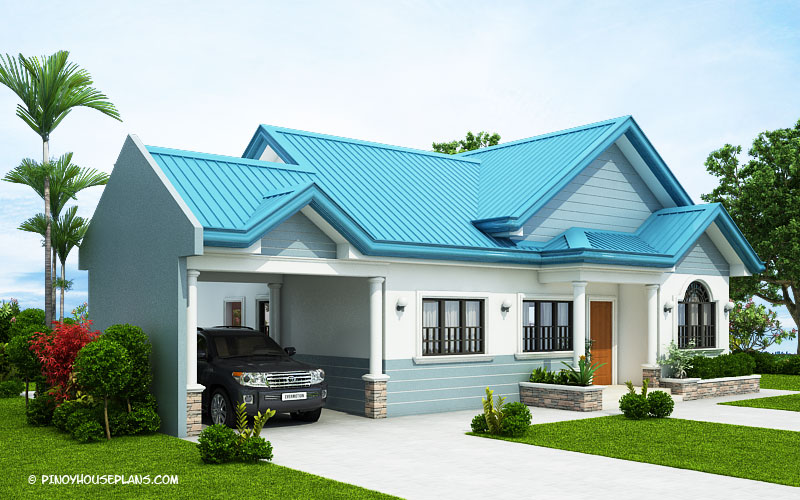 Excellent The Blue House Design With 3 Bedrooms Pinoy House Plans Download Free Architecture Designs Photstoregrimeyleaguecom