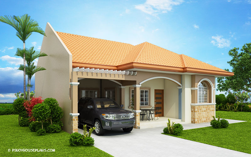 Hasinta Bungalow House Plan With Three Bedrooms Pinoy House Plans