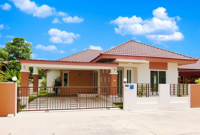 This two bedrooms house brings comfort and space to a family. [Image Credit: Naibann]