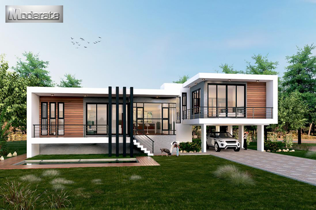 Modern Style Single Storey House With Underground Garage