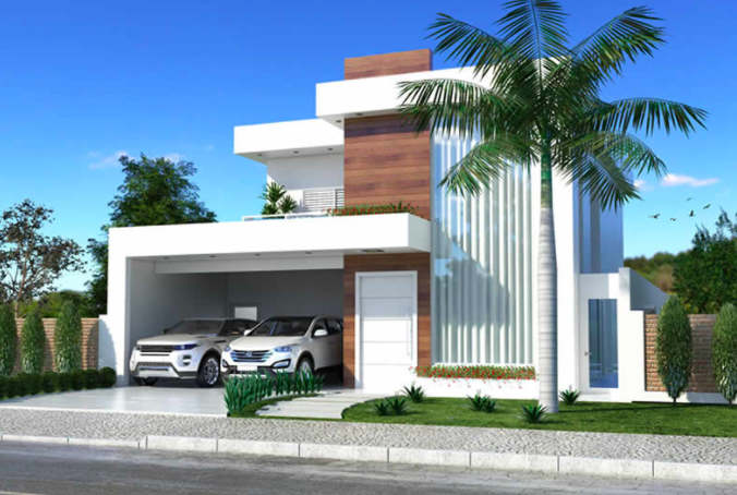 Luxurious and Modern Two-Storey House Plan With Clean Facade on bungalows home plans, cottages home plans, semi-detached home plans, 1.5 storey home plans, one car garage home plans, brick home plans, duplex home plans, white home plans, custom home plans, side-split home plans, double home plans, townhouse home plans, two-story home plans,