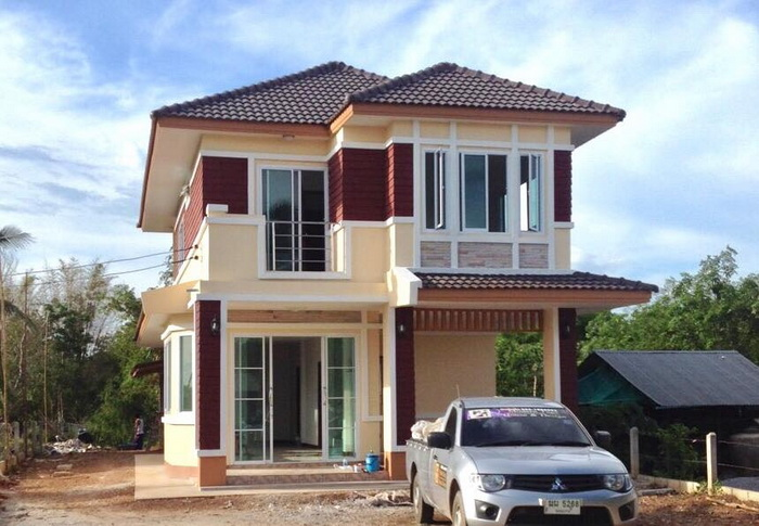 Two storey Contemporary house 1 1 1 - 48+ Two Storey Small Simple Modern House Design Pics