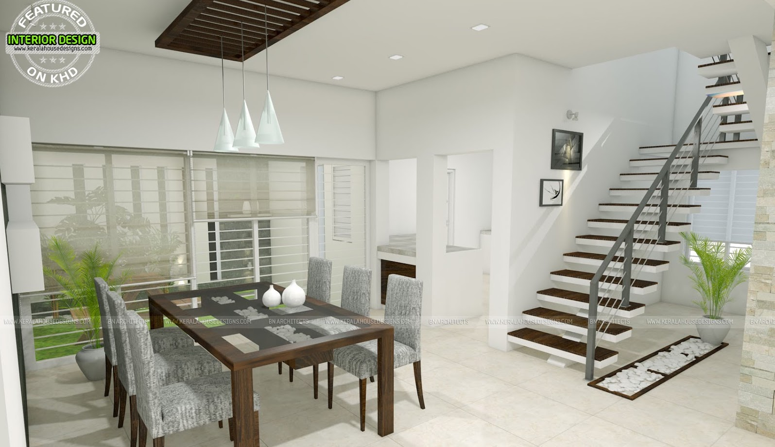 Modern Two Storey House With Three Bedrooms and Three Living Rooms
