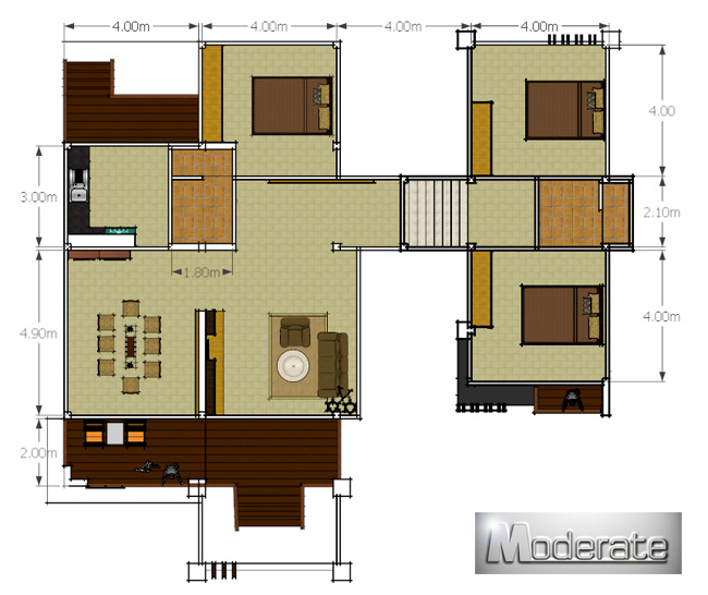 Modern Single Storey House With Provision For Basement Room