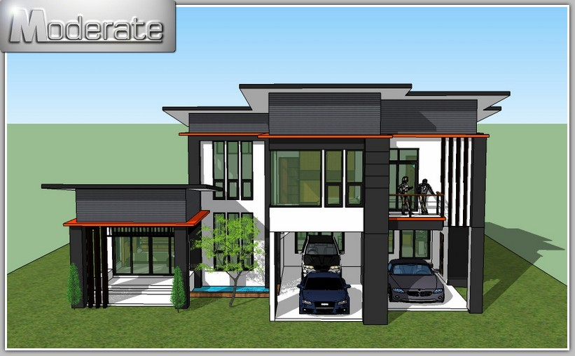 This two-storey house is a very spacious home for a large family. [Image Credit: Plan Modern Home]