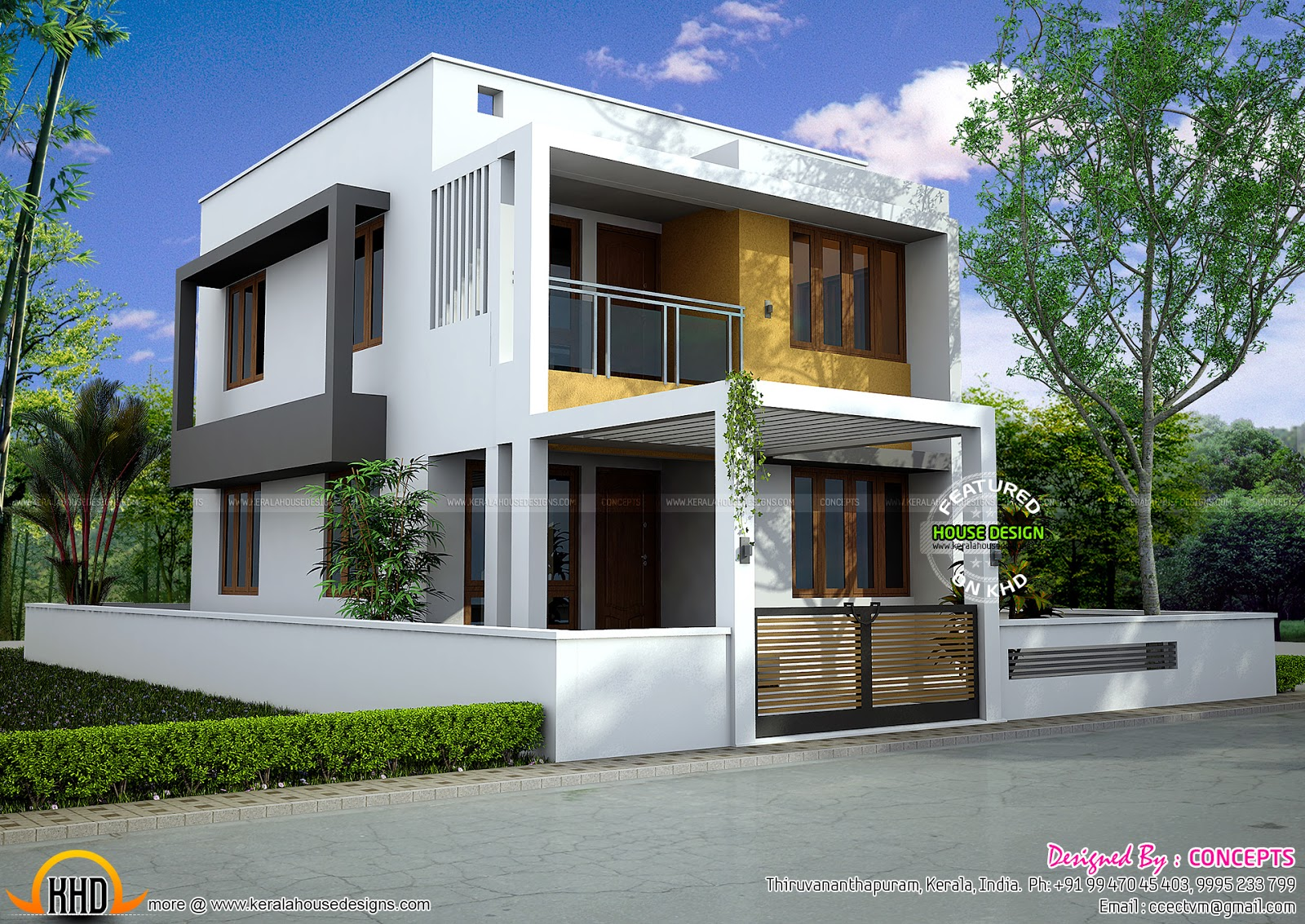 modern flat - 27+ Small Stylish House 3 Bedroom Modern House Plans Background