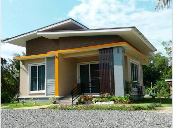 Simple two-bedroom bungalow design - Pinoy House Plans