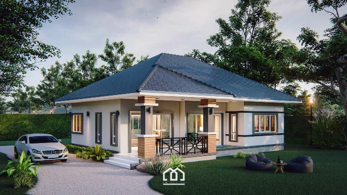 Impressive Two-bedroom Bungalow House Design - Pinoy House Plans