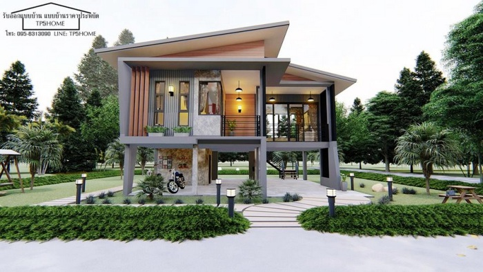 Loft Style Home With A Balcony And A Multi Purpose Basement Pinoy House Plans