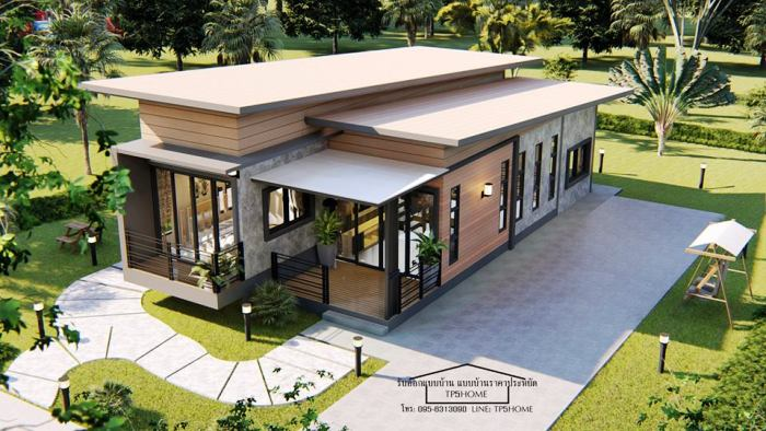 Unique design for one and a half floor house - Pinoy House Plans
