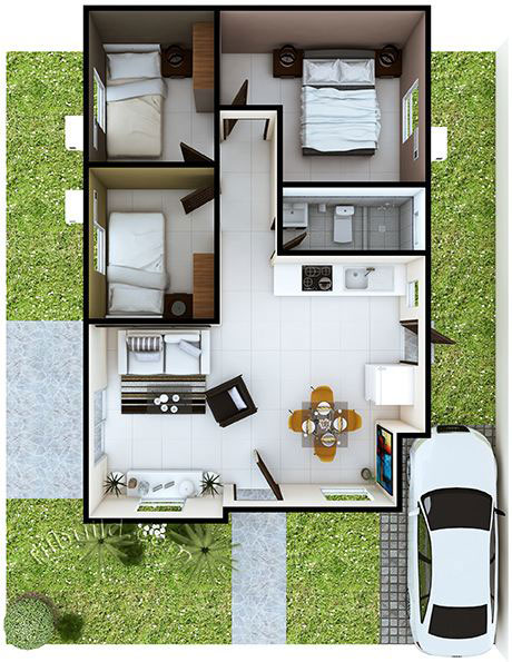 Minimalist Modern Bungalow For Beginners Pinoy House Plans