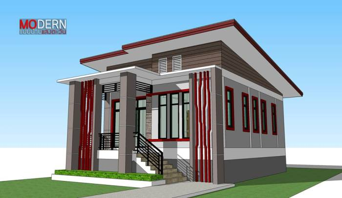 Affordable But Cozy Contemporary Three Bedroom Bungalow With A Shed Roof Pinoy House Plans