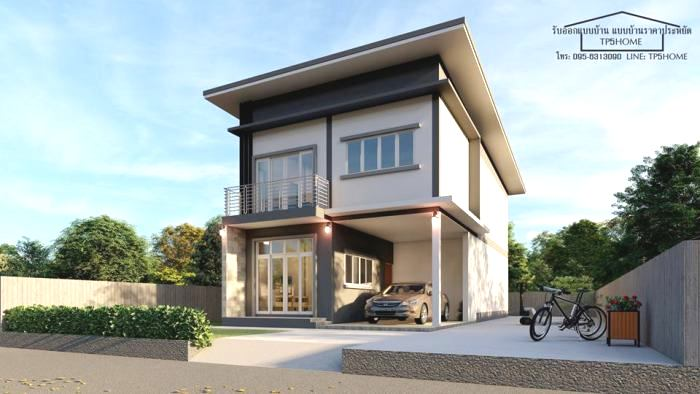Modern Two Storey Design For A Narrow And Elongated Lot Pinoy House Plans