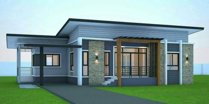 Simple and affordable elevated three-bedroom bungalow ...
