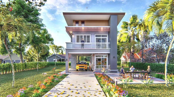 Compact Three Bedroom Double Storey House Design For A Small Lot Pinoy House Plans