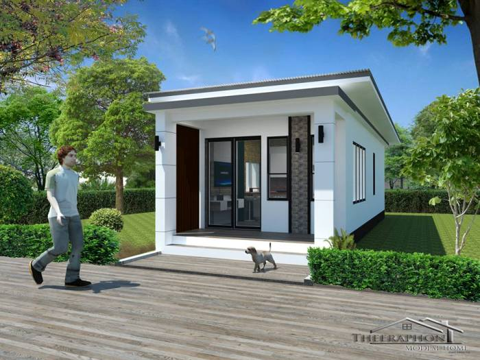 One Bedroom House Design 01 - Get Small 1 Bedroom House Plan Design PNG